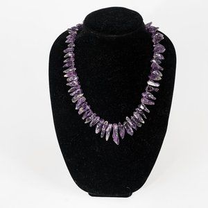 NWOT large chunk amethyst necklace